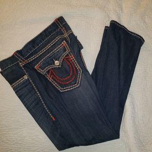 Men's True Religion  Ripped Blue Denim Jeans